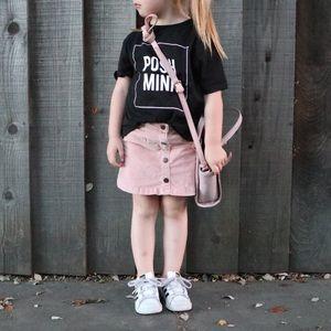ZARA Pink Button Front Skirt